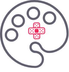 logo, Guide de l'artiste, palette