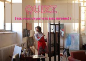 quizz, vrai-faux, métier artiste