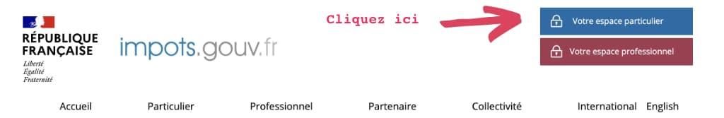 connexion site impots.gouv.fr