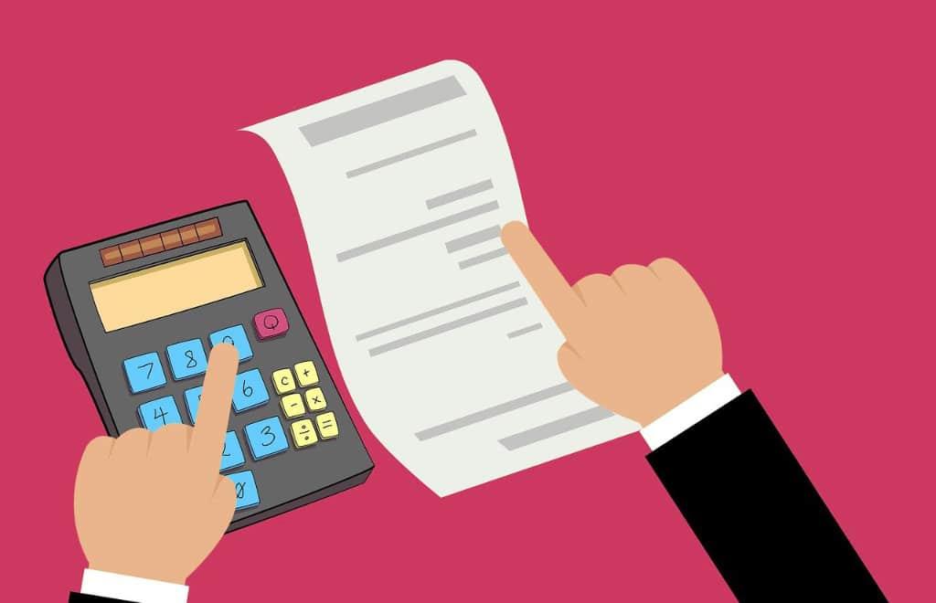facture, calculette