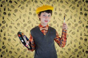 enfant, peintre, humour